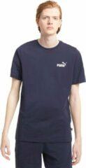 Blauwe PUMA ESS Small Logo Tee T-Shirt Mannen - Maat S