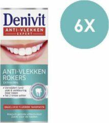 Denivit - Tandpasta - Smokers - Rokers - Anti-vlekken Expert - 6 x 50ml - Voordeelverpakking