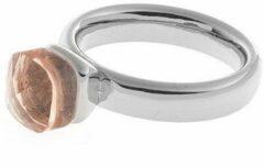 Oranje Biba Ring - Glazen Steen Peach