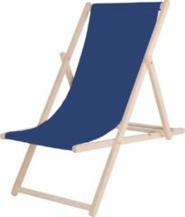 Blauwe Platinet PSWBL Garden Wooded Sunbed / Lounger Summer Mėlyna