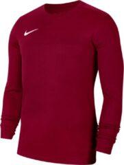 Bordeauxrode Nike Park VII LS Sportshirt - Maat M - Mannen - bordeaux rood