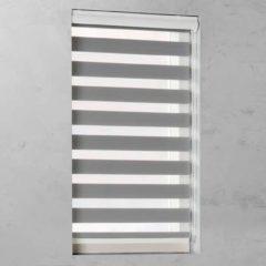 Grijze Pure Living Duo Rolgordijn lichtdoorlatend Grey - 190x175 cm