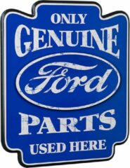 Blauwe Ford Only Genuine Parts Used Here Pub Bord - Houten Wandbord - Contour Cut - Bar
