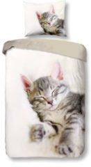 Gebroken-witte Snoozing Snooze - Dekbedovertrek - Eenpersoons - 140x200/220 cm + 1 kussensloop 60x70 cm - Off white