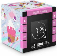 Roze Bigben Kinderwekker met Geluidseffecten & Projector - Eenhoorn
