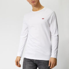 Witte Levi's Men's Original Long Sleeve T-Shirt - Cotton Patch White - L - White