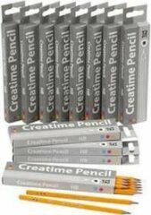 Creotime Schoolpotloden, l: 17,5 cm, 2 mm vulling, , HB hardheid, 12x12stuks, dikte 7 mm