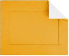 Gele BINK Bedding Boxkleed Wafel (Pique) Oker 80x100