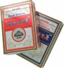Speelkaarten complete set 2 stokken KING Corona | Rood en Blauw