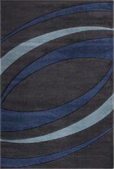 Impression Carpets Relax Basic Vloerkleed Antraciet / Blauw Laagpolig - 80x150 CM