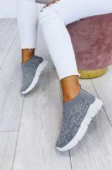 Grigio Alx Trend Sneakers in tessuto elastico con strass Deep Grigie