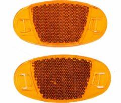Dunlop Spaakreflectoren 7 Cm Oranje 2 Stuks