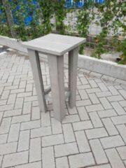 Grijze KSM-Steigerhout 2 stuks kruk Barkruk Easy van Grey Wash steigerhout voor bij een bar tafel / sta tafel