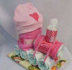 Roze Sabinesgeschenkenshop.be Trein klein roos