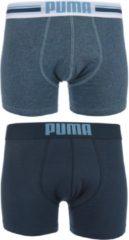 Blauwe PUMA Placed Logo Boxershort - 2-pack - Denim - Maat S