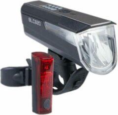 Büchel Verlichtingsset Blc820 80 Lux Usb-oplaadbaar Zwart