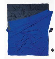 Cocoon - TravelSheet Doublesize Silk - Reisslaapzak maat 220 x 176 cm - Double, blauw/wit