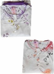 Fine Woman Dames pyjama Fine women katoen polyester gebloemd effen paars XXL