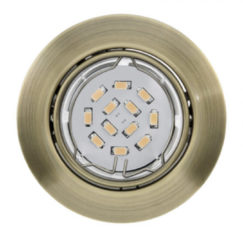 EGLO Peneto - Inbouwspotje - LED - Ø87mm. - Brons - Richtbaar