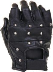 Zwarte Fostex Leren handschoenen zonder vingers met nagel - maat L