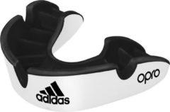 Adidas Gebitsbeschermer Opro Gen4 - Silver Edition - Zwart/Wit - Junior