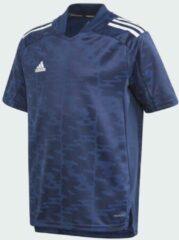 Marineblauwe Adidas Condivo 21 Primeblue Voetbalshirt