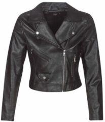 ONLY Leatherlook Jas Dames Zwart