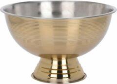 Home&Styling Gouden Champagne emmer Groot - Dia 39 cm - champagne emmer op voet - Wijnkoeler - Ijsemmer