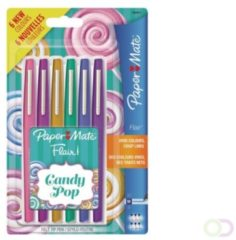 Fineliner Paper Mate Flair Candy assorti 1.0mm set à 6stuks