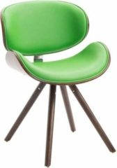 CLP Esszimmerstuhl ORTEGA mit Holzsitzschale, Holzstuhl mit Kunstlederbezug, Polsterstuhl mit Buchenholzgestell, Loft Stuhl,