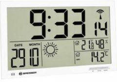 Bresser MyTime Jumbo wit LCD weerstation-wandklok