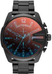 Diesel Horloge Mega Chief staal zwart/oranje Chrono DZ4318