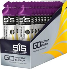 SIS - Energygel GO Isotonic - Energie gel - Blackcurrant - 360 Gram (30 Gels)