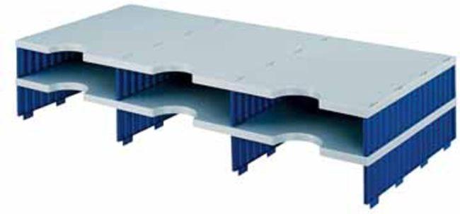 Afbeelding van Opbergsysteem Styro styrodoc trio uitbreidingselement met 6 vakken