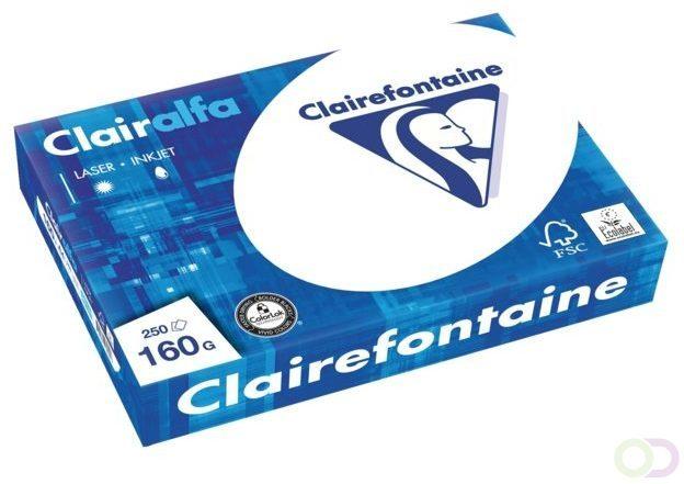 Afbeelding van Clairefontaine Clairalfa 2618C Printpapier, kopieerpapier DIN A4 160 g/m² 250 vellen Helderwit
