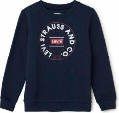 Levi's Sweater met frontprint en logo - Blauw - Maat 176