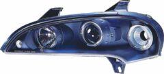 Universeel Set Koplampen Opel Tigra A 1995- - Zwart - incl. Angel-Eyes