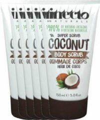 Inecto Naturals Coconut Body Scrub Voordeelverpakking 6x150ml
