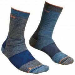 Ortovox - Alpinist Mid Socks - Wandelsokken maat 45-47, blauw/zwart/grijs