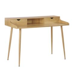 Beliani LENORA - Bureau - Lichte houtkleur - MDF