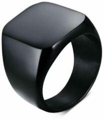 TrendFox Zegelring Heren Zwart   18 - 22mm   Ringen Mannen   Ring Heren   Ring Mannen   Cadeau voor Man   Mannen Cadeautjes   Sinterklaas Cadeau   Sinterklaas Cadeautjes
