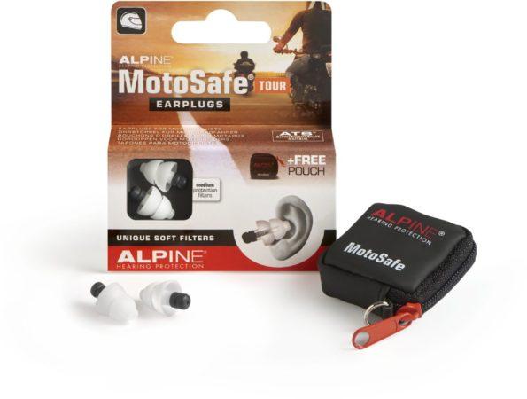 Afbeelding van Alpine Hearing protection Alpine Motosafe Tour - Motor oordoppen - Gehoorbescherming Tour - Wit - 1 set