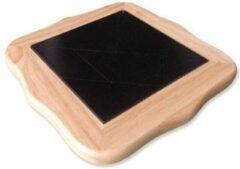 HOT Games Tangram SolidWood blank,stenen zwart 22cm.