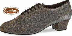 Diamant Dames Dansschoenen 093-034-509-A – Salsa/Latin Trainingsschoenen – Zwart, Zilver, Goud – Maat 40,5