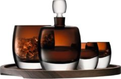 Bruine LSA International L.S.A. Whisky Club Whisky Set - Met Dienblad - Glas