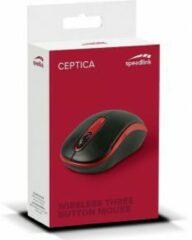 SPEEDLINK Ceptica RF draadloos + USB Optisch 1600DPI Ambidextrous Zwart, Rood muis