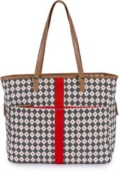 PINK LINING - Luiertas - Henrietta Tote - Diamond Heart - Grey & Red