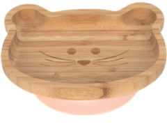 Reer Lässig 4Babies & Kids Bord bamboo/hout met zuignap silicone little chums mouse