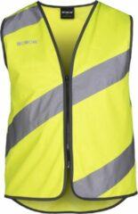 Gele Veiligheidsvest WOWOW Lucas Small - EN 1150 - fietsen - wandelen - lopen