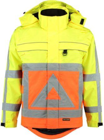 Afbeelding van Tricorp Parka verkeersregelaar - Workwear - 403001 - Fluor Oranje-Geel - maat L